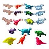 holilest Barro de Color, Herramientas de Molde de plastilina de Dinosaurio DIY moldes de Arcilla Kit de Juguete Juguetes de Arcilla de Modelado de Masa, Juguete Suave de Regalo