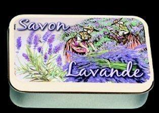 Boite A SAVONS Metal PUB Retro Savon A LA Lavande