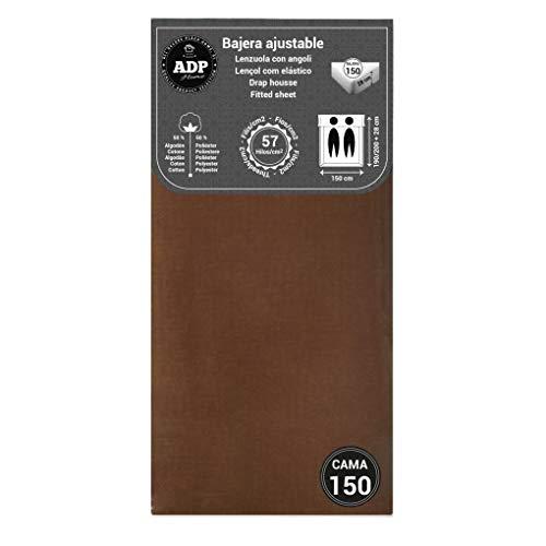 ADP Home - Bajera Ajustable (para Cama de 150 cm), Chocolate