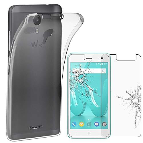 ebestStar - kompatibel mit Wiko Jerry 2 Hülle Handyhülle [Ultra Dünn], Premium Durchsichtige Klar TPU Schutzhülle, Soft Flex Silikon, Transparent +Panzerglas Schutzfolie [Phone: 144x72.8x9.3mm 5.0