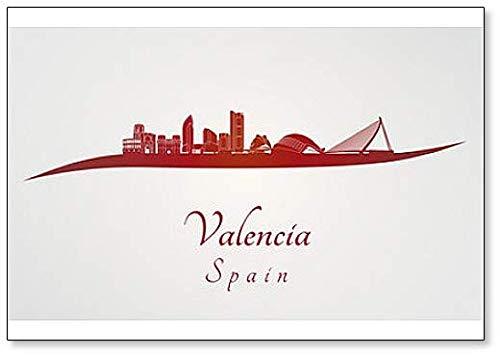 Valencia Skyline Classic imán para nevera