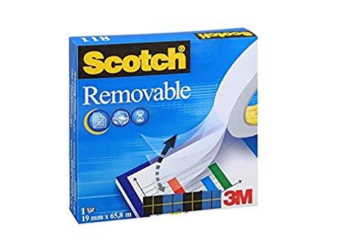 Scotch M8111966 Klebeband Magic 811 (Zellulose Acetat, wieder ablösbar, 66 m x 19 mm) unsichtbar