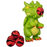 Hog Wild Dragon Popper Toy - Shoot Foam Balls Up to 20 Feet - 6 Balls Included - Age 4+