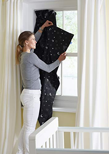 The Gro Company Stars and Moons Gro Anywhere Portable Blackout Blind with Suction Cups