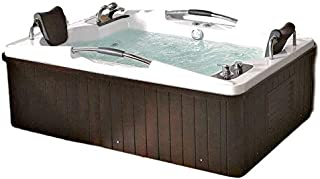 2 Person Bathtub Jetted Computerized whirlpool type Jets, 49 Inch x 73 Inch, Hydrotherapy 17 Massage Jets, Built-in Heater, FM Radio, Bluetooth SPA Tub Model SYM085A-sds