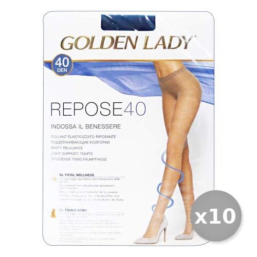 GOLDEN LADY Repose Set 10 GOLDEN LADY Repose Strumpfhose 40 DEN rauchgrau Größe XL 36g