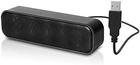 [Upgraded] USB Computer Speaker, Laptop Speaker with Stereo Sound & Enhanced Bass, Portable Mini Sound Bar for Windows PCs, Desktop Computer and Laptops