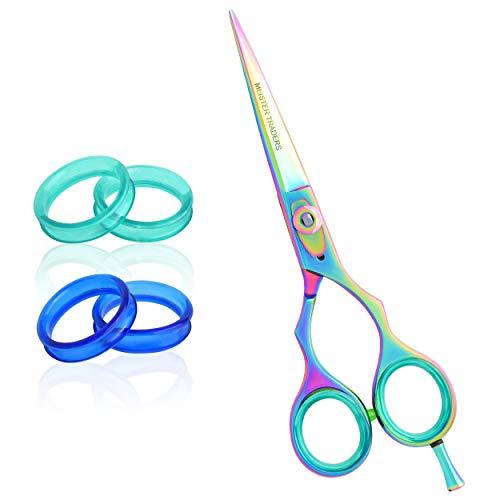 Professional Hair Scissors-Barber Scissors-Hair Shears 6.5 ''Haircut Scissors Professional Hair Cutting Scissors for Women/Men with Fine Adjustment Tension Screw Japanese Stainless Steel Rainbow Color