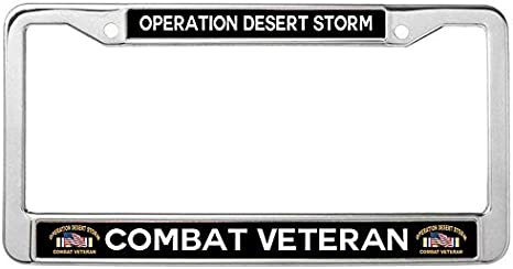 Nuoyizo Operations Enduring Freedom Iraqi Freedom OIF OEF Afghanistan Iraq Veteran Metal Waterproof Stainless Steel Car Licence Plate Covers Funny Car tag Frame