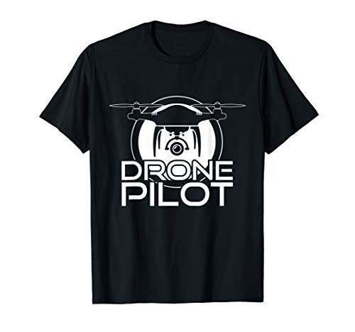 Drohne Quadrocopter Fluggerät Flugobjekt Pilot T-Shirt