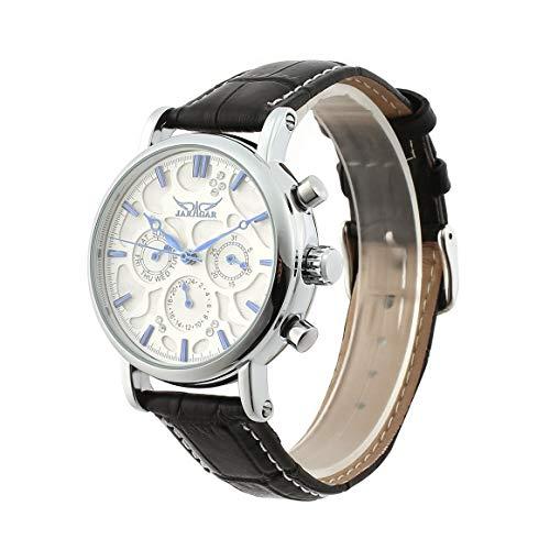 Reloj mecánico automático Jaragar, reloj de negocios multifunción, caja de acero inoxidable, pantalla Clendar, reloj de pulsera para hombre Paperllong
