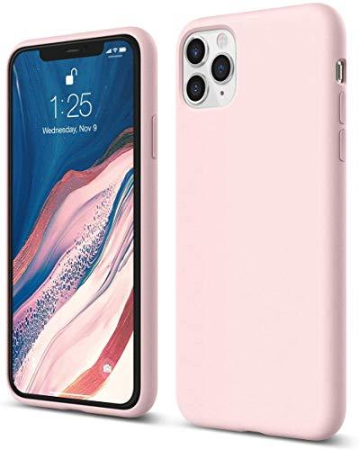 Hakdsy Funda Silicone para iPhone 11 Pro MAX, Carcasa de Silicona Líquida Suave, Sedoso-Tacto Suave Cómodo Agarre, Absorción de Golpes para iPhone 11 Pro MAX (6,5 Pulgadas) (Rosa)