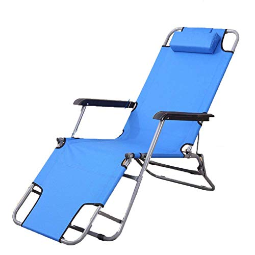 YLCJ Camping-Stuhl Sonnenliege, ultraleichtes tragbares faltbares mit der Kopfstütze vervollkommnen für Haus/Patio/Decking/Ferien/Strand