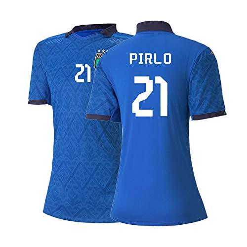 XH Frauenfußbälle Trikot Andrea Pirlo # 21, Trainingskleidung Erwachsene Größe, S-2XL (Color : Blue, Size : X-Large)