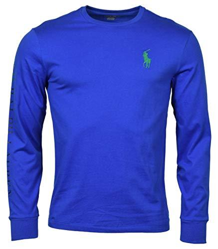 Polo Ralph Lauren Men's Classic Fit Long Sleeve Big Pony Logo T-Shirt - S - Blue