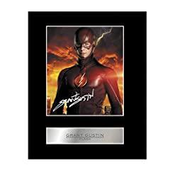 Grant Gustin Signed Mounted Photo Display Flash Autographed Gift Picture Print Perfect gift, ready to be framed. High quality photographic print applied to a 1.5mm thick black bevelled mount. The autographs are pre-printed. Great piece of memorabilia...