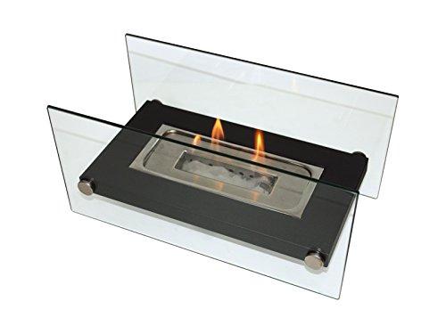 PURLINE ONIROS Tischplatte Biokamin Tragbarer Bioethanol-Kamin für Innen und Außen mit Edelstahlbrenner