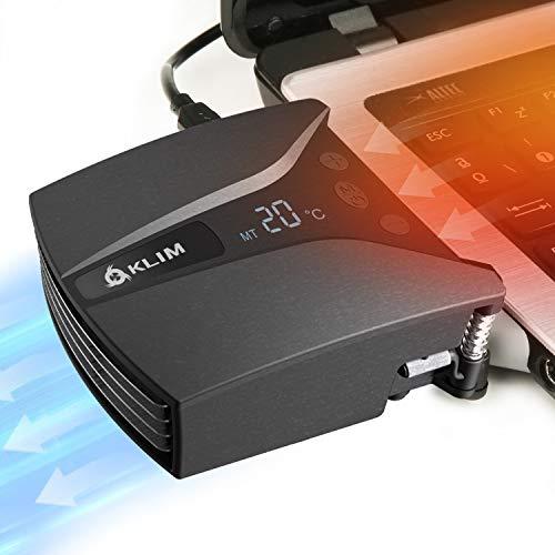 KLIM Tempest | Laptop Kühler mit Vakuumlüfter | Innovatives Design für schnelles Kühlen | Temperaturerkennung + Automatischer/Manueller Modus + 4000 U/min | Laptop Cooling Pad kompatibel | NEU 2021