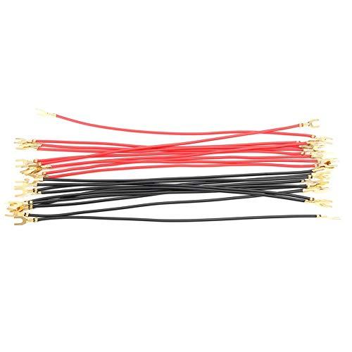 Terminal Cable-20pcs 20cm de longitud Terminales prensados en frío Conectores tipo U Cable de alambre