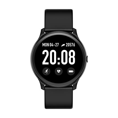 XUEXIU Pantalla Táctil Completa Mujer Smart Watch Deporte Impermeable Smartwatch para iOS Y Android (Color : Black)