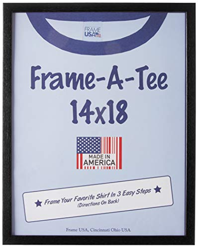 Frame USA 'Frame-A-Tee Series 14x18 T-Shirt Frame (Black) | Choose Color and Size