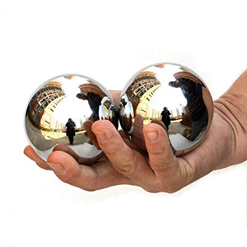 Buy Bargain Laogg Baoding Balls Chinese,Stainless Steel Solid Large Health Holding Exercise Stress R...