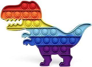 Foykay Fidget Toys, Dinosaure Push Pop Bubble Fidget Sensorielle Anti Stress pour Les Enfants/Adultes, Jouet Educatif popi...