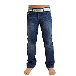Bootcut Regular fit Button fly Branded buttons & rivets Classic 5 pocket design - 3 front & 2 back
