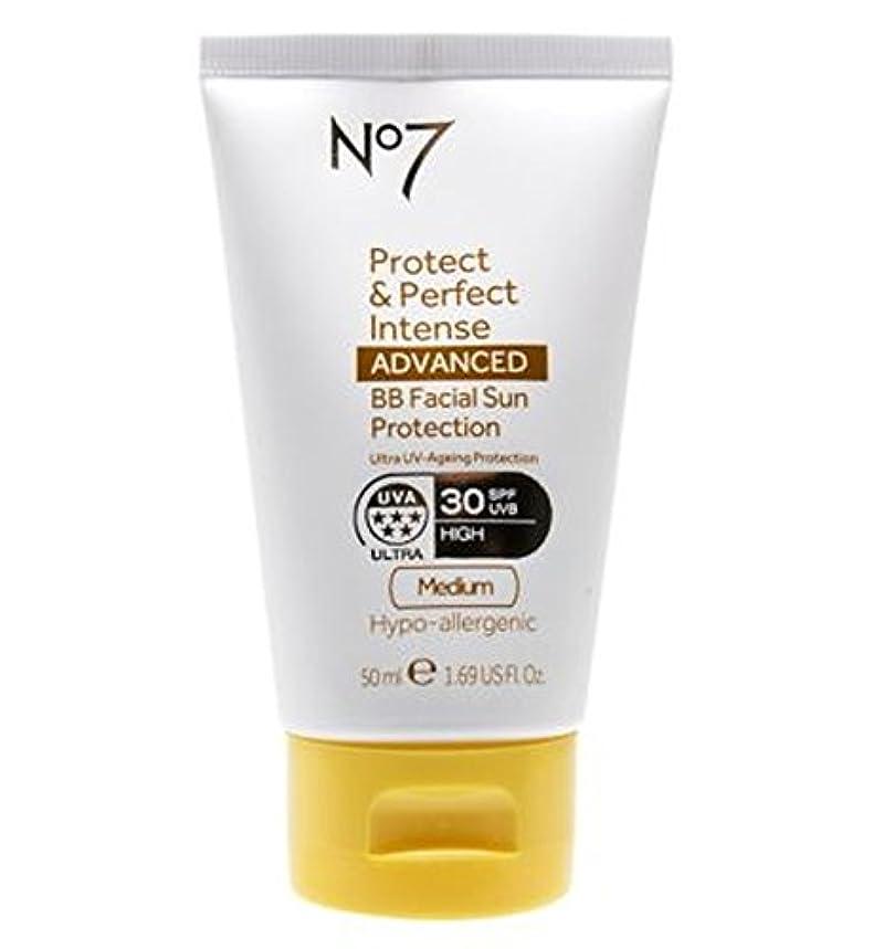 分散領事館狂うNo7 Protect & Perfect Intense ADVANCED BB Facial Sun Protection SPF30 Medium 50ml - No7保護&完璧な強烈な先進Bb顔の日焼け防止Spf30培地50ミリリットル (No7) [並行輸入品]