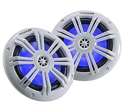 """Kicker KM604WL (45KM604WL) 6-½"""" 2-Way Marine LED Speakers by Kicker"""