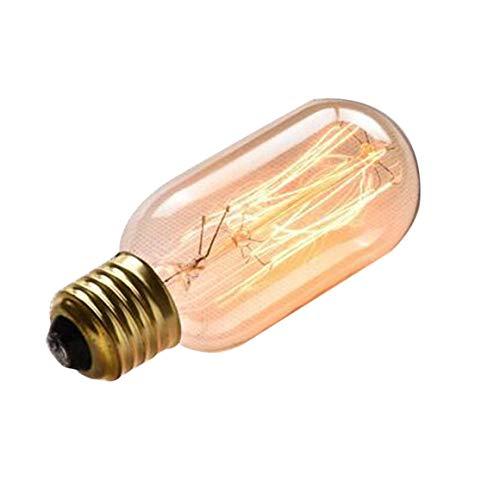 Funnyrunstore E27 Lumineux LED Ampoule Style Industriel 40W Filament Ampoule Suspension Suspension Lumière Jaune Lumière Intérieur Lampe De Décoration D'intérieur T45, Jaune Chaud