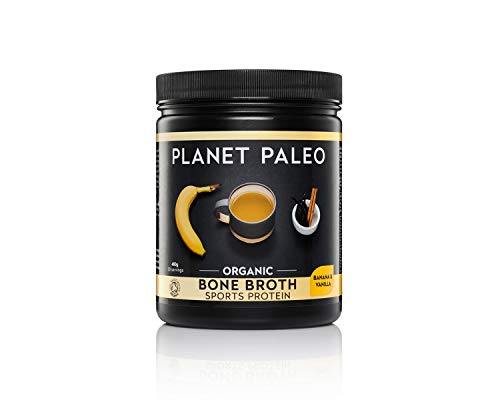 Photo of Planet Paleo Organic Vanilla and Banana Sports Protein Powder – 480g