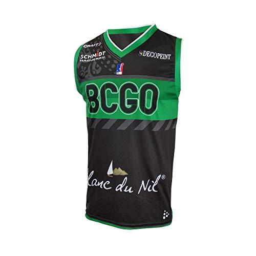 BCGO - Basket Club Gries Oberhoffen Gries-Oberhoffen Maillot Officiel Extérieur 2019-2020 Camiseta de Baloncesto, Unisex Adulto, Negro, XXL