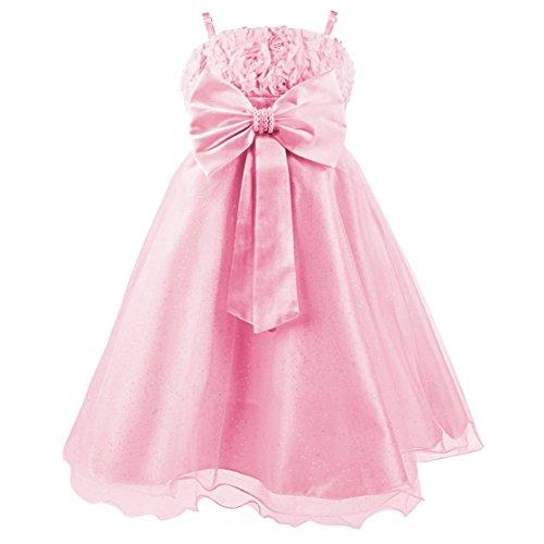 Disney Princesas Vestido de Verano, Color Rosa Brillante, 4-5 años (Katara 1716)