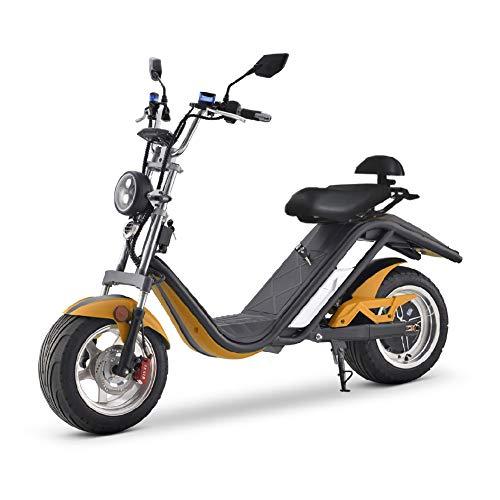 CITYCOCO Scotter Electrica E-Thor Matriculable 2000w 20Ah (Motor Brushless, batería litio, autonomía 65 km, amortiguadores, frenos de disco) - Naranja