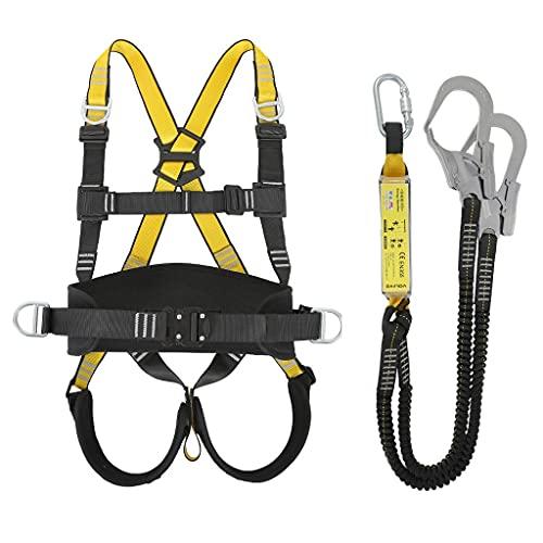 BJYX Arnés De Cuerpo Ajustable para Cintura, Cinturón De Escalada, Protección contra Caídas, Cuerpo Completo, Escalada En Roca, Cinturón De Seguridad para El Cuerpo
