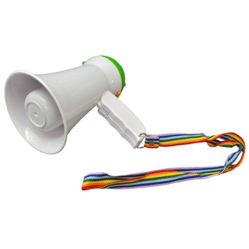 メガホン 応援 拡声器 小型 サイレン付きハンドメガフォン