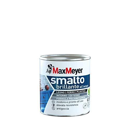 Maxmeyer 165328B130001 Smalto Brillante all Acqua, Bianco, 0.125 L