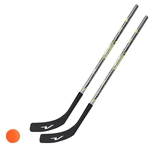 Unbekannt 2 x Vancouver Streethockeyschläger 100 cm, Kids Plus 1 Hockey-Ball (1 x Links- 1 x Rechtsschuss)