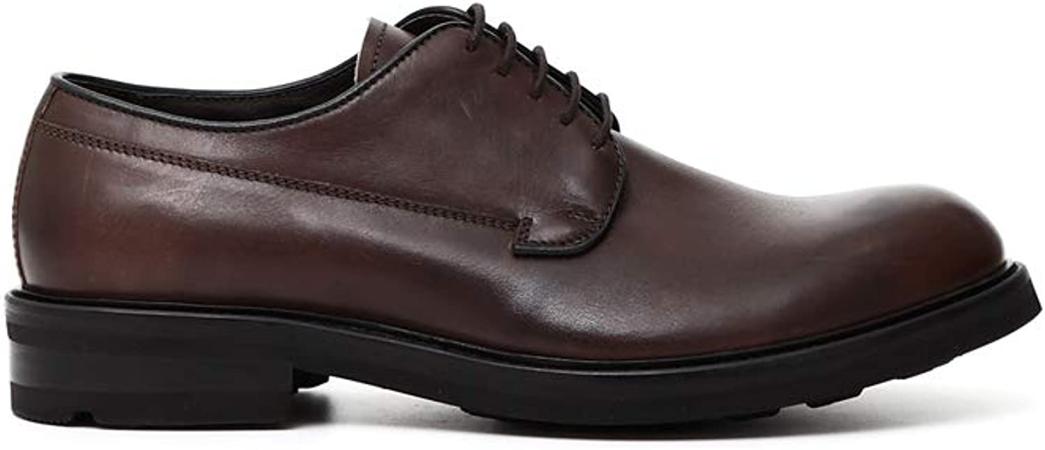 CAF black QC115 Brown Coffee shoes Classic Derby shoes Elegant Leather Laces