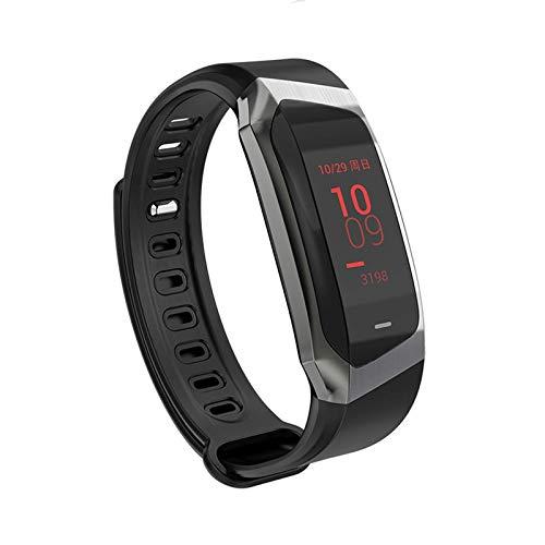 TIANYOU Smart Watch, Pantalla Táctil Grande de 0.96 Pulgadas, Recordatorio de Inforión de Llamadas Bluetooth Sports Health Pulsera Regalo de vacaciones/Lead black