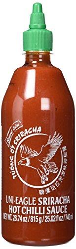 Uni-Eagle Chili Sauce Sriracha scharf – Hot Sauce mit Chilies & Knoblauch ohne Geschmacksverstärker – 1 x 815 g