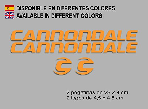 Ecoshirt E6-ZILJ-Y6X6 stickers Cannondale F118 vinyl sticker Decal Sticker Decal Sticker MTB Bike Orange
