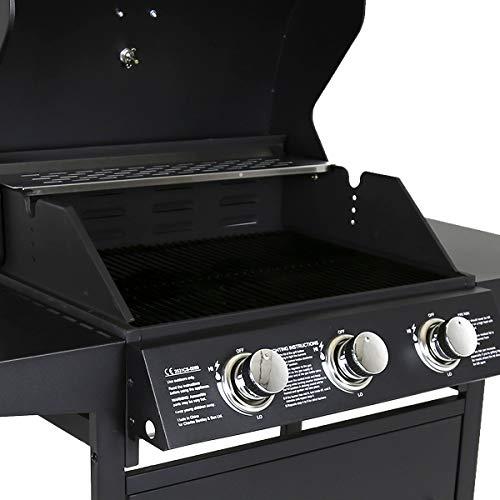 Charles Bentley 3 Burner Gas BBQ - Black