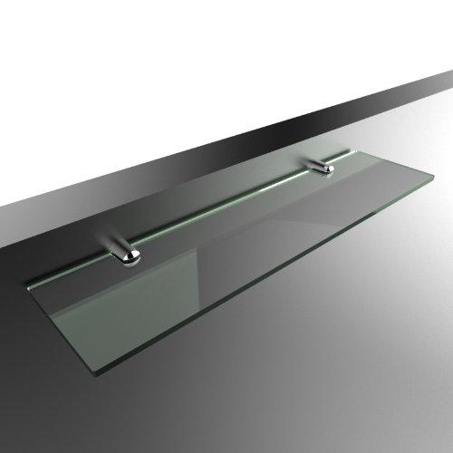 Wandregal, Acryl, gerade, sichere Befestigung, 40x10cm Glass Effect