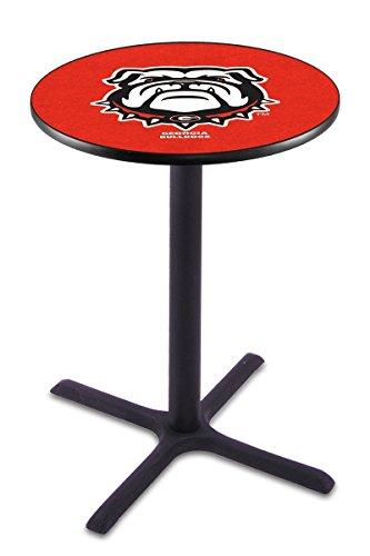 "Holland Bar Stool Co. L211-42"" Black Wrinkle Georgia Bulldog Pub Table image"