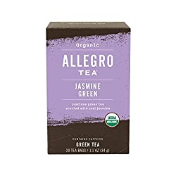 Allegro Tea, Organic Jasmine Green Tea Bags, 20 ct