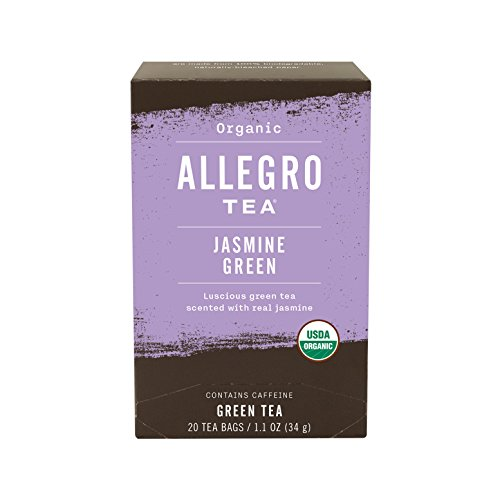 Allegro Tea, Organic Jasmine Green Tea Bags, 20 ct