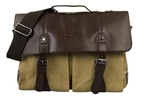 Airel Vintage-koffer, schoudertas van linnen, afmetingen: 25 x 40 x 15 cm, unisex, volwassenen, meerkleurig, eenheidsmaat
