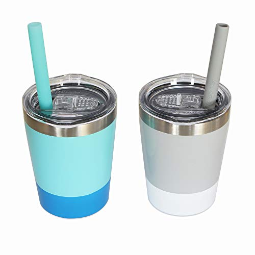 Housavvy 2 Pack Kids Stainless Steel Cups with Lids and Straws Now $15.39